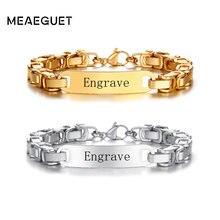 Bracelet chaîne Curban personnalisé avec nom, douane, en acier inoxydable, en or et argent, bijoux livraison directe