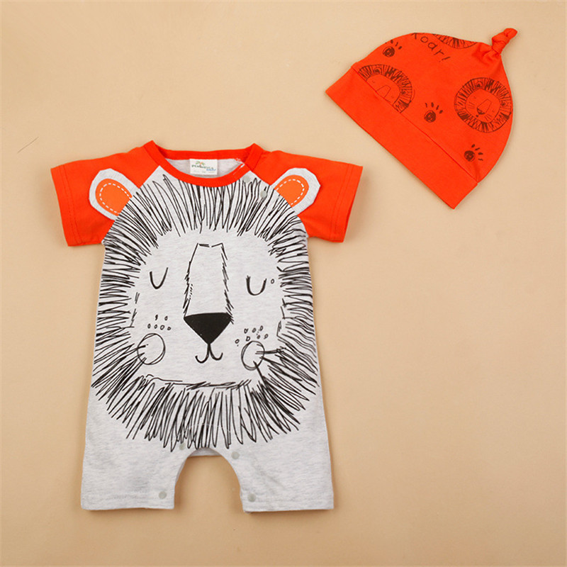 H427c7bcf37a14d44b4f51a9df915c3d6S Newborn baby cotton rompers lovely Rabbit ears baby boy girls short sleeve baby costume Jumpsuits Roupas Bebes Infant Clothes