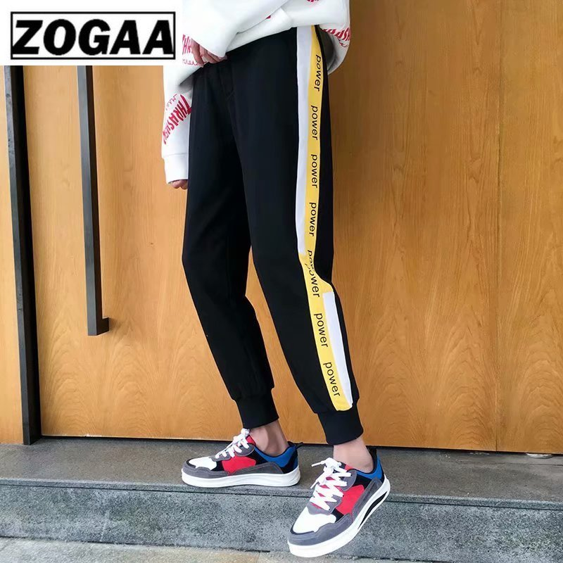 ZOGGA 17 Style 5XL Plus Size Casual Men Pant with Elastic Waist Ankle-Length Mid-waist Male Pencil Polyester Spandex Fabric