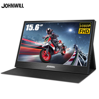 """Portable Monitor 15.6"""" LCD USB Type C Hdmi gaming monitor ips 1080p HD display for PS4 Laptop Phone Xbox Switch Pc with Case"""