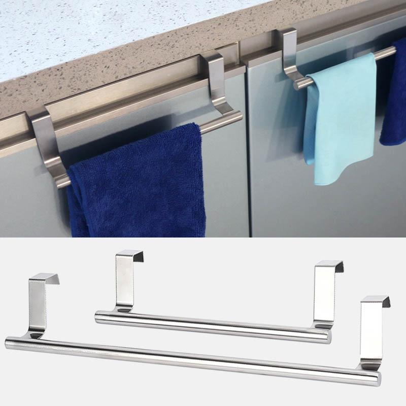 2 Size Bathroom Kitchen Cabinet Shelf Rack Towel Racks Over Door Towel Rack Bar Hanging Holder