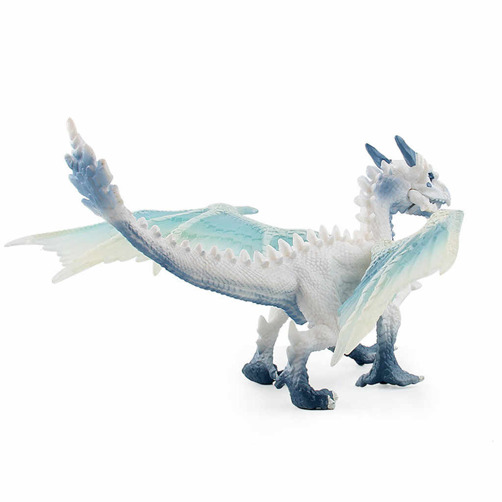 Jurassic Park Modello di Dinosauro Giocattoli Volare Drago di Ghiaccio Animale Gioco di Azione Figura Del Bambino Occidentale Drago Giocattolo Set di Decorazioni Per Desktop
