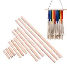 10 peças diâmetro 8mm/10mm/12/mm natural hastes de madeira de faia varas superior durável passador de madeira para diy artesanato modelo de construção woodworking
