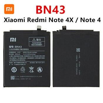 цена на 100% Orginal BN43 battery 4000mAh For Xiaomi Redmi Note 4X / Note 4 global Snapdragon 625 High Quality BN43 Battery