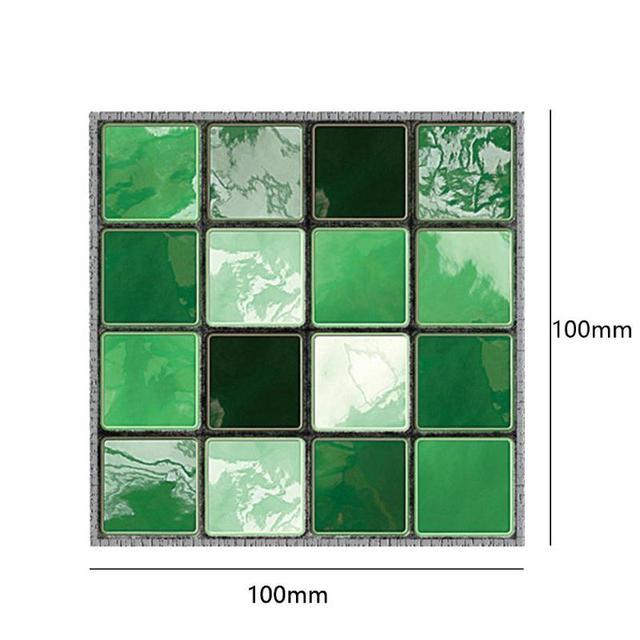 19Pcs Mosaic Tile Wall Sticker Self Adhesive Pvc Waterproof Tiles Decals Diy Kitchen Bathroom Home Wall Sticker Vinyl 3D 6