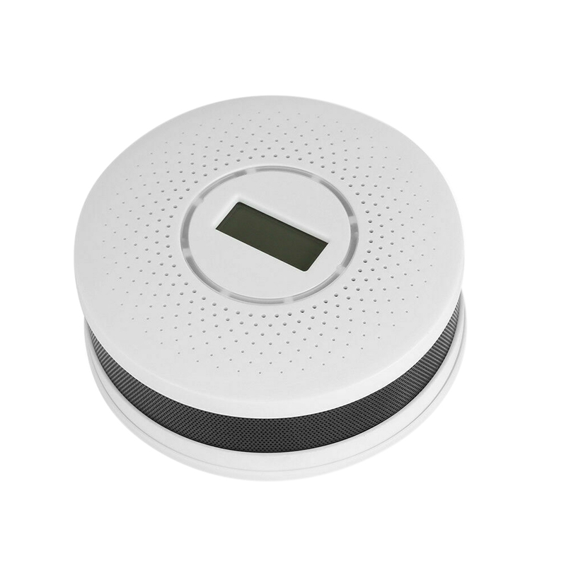 ABKK-2In1 Smoke Detector Carbon Monoxide Detector LCD Screen Sound Warning High Sensor Home Security