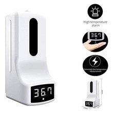 2 en 1 K9 no contacto termómetro infrarrojo Digital de lavado de manos libre dispensador de jabón Sanitizer de Termometro Infrarojo K3M3