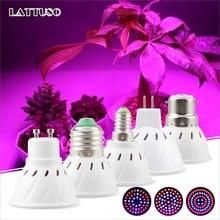 Oświetlenie LED do uprawy E14 E27 MR16 GU10 B22 pełnozakresowe Led żarówki lampa do roślin czerwony niebieski UV IR dla rosną namiot cieplarnianych lampa do uprawy roślin
