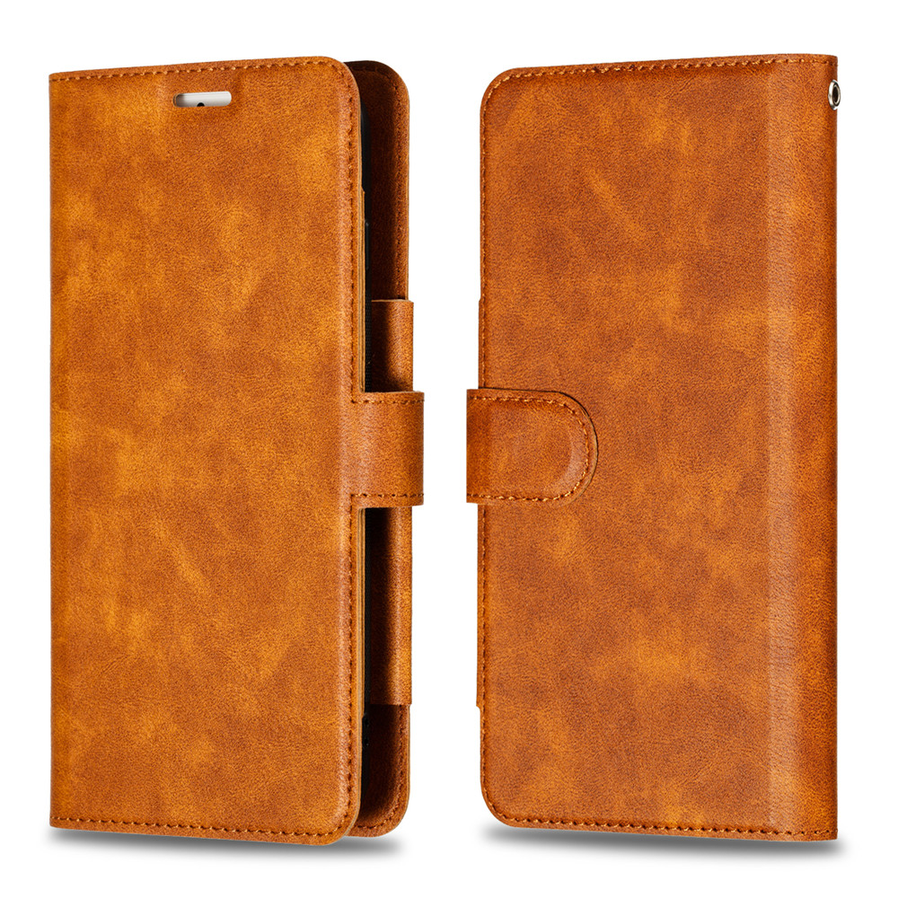 Retro PU Leather Case iPhone 7 6 6S 8 Plus Case iPhone X XS Max XR Case Cover Detachable 2 in 1 Multi Card Wallet Phone cases27