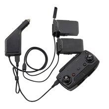 Carregador de carro portátil para dji mavic ar drone vôo bateria controle remoto viagem ao ar livre adaptador carregamento portátil luz