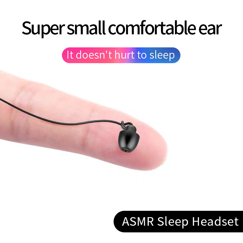 Sleeping Earphone Soft Silicone Headset Lightweight Earphone With Microphone 3.5mm Noise Cancelling Earphone For Xiaomi Huawei