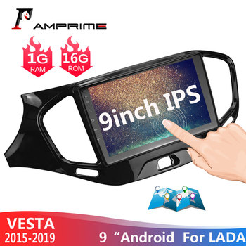 "AMPrime 9"" Android 2din Car Player GPS Navigation Multimedia For LADA Vesta Cross Sport Radio 2015 2016 2017 2018 2 din gps"