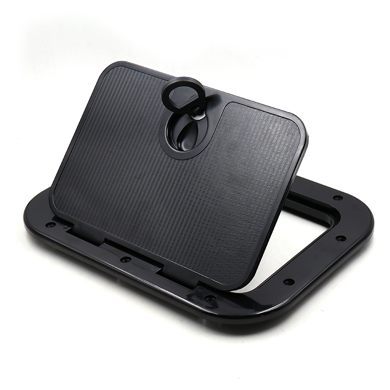 Marine Deck Plate Access Cover Pull Out Inspection <font><b>Hatch</b></font> Latch for <font><b>Boat</b></font> Kayak Canoe white Black Marine Access <font><b>Hatch</b></font> with <font><b>Lock</b></font> image