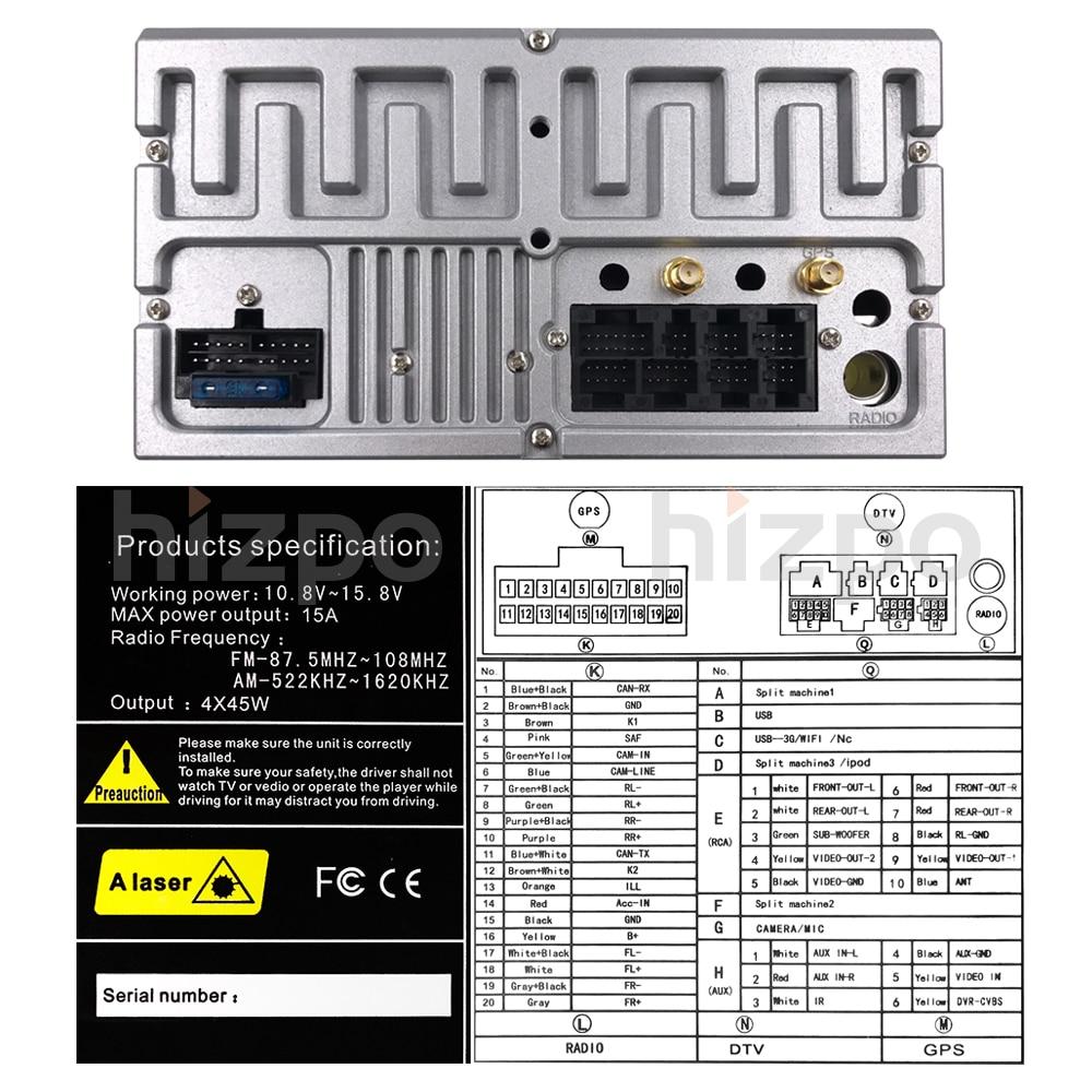 2 din 6.2 calowy uniwersalny samochodowy odtwarzacz multimedialny Android10 radio samochodowe Stereo dla Toyota RAV4 Corolla CROWN CAMRY RUSH