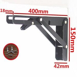 Image 3 - 2PCS,8  20 Inch Length Triangle Folding Angle Bracket Black Adjustable Wall Mounted Durable Bearing Shelf Bracket Table Bench