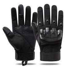 Gants militaires tactiques doigt complet pour hommes, écran tactile, Paintball Airsoft, jointures dures, escalade en plein air, gants de Combat de l'armée