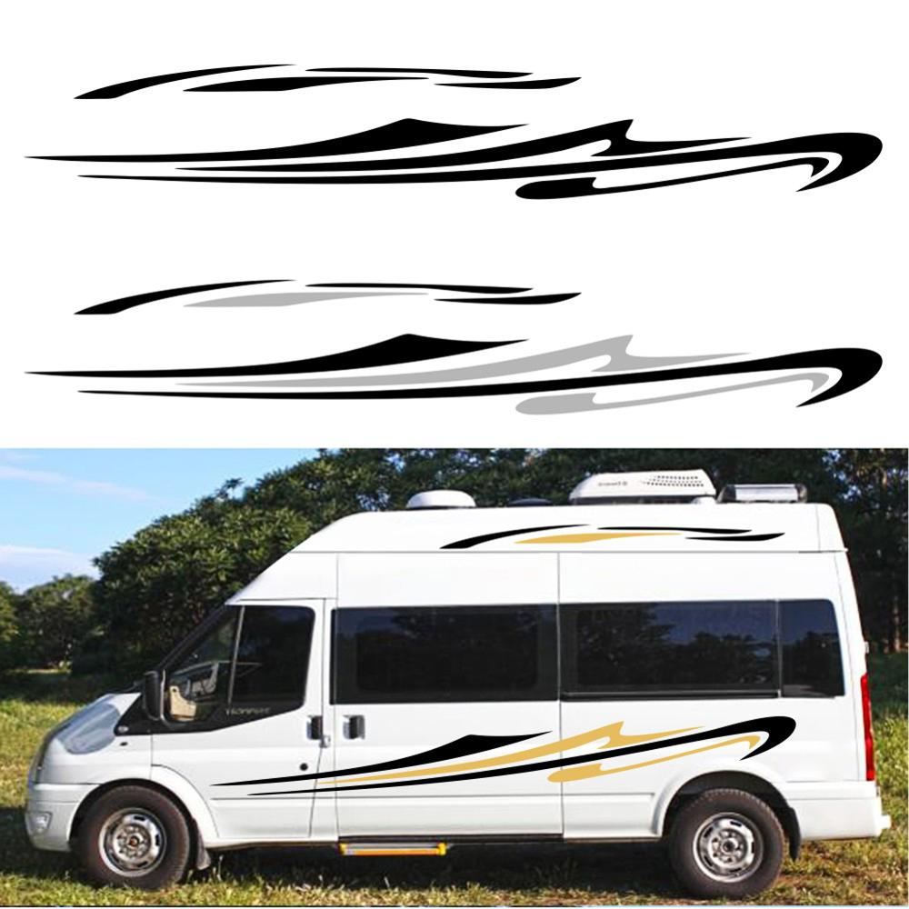 For Mercedes Sprinter Car Long Side Stripes Stickers Auto DIY Sports Styling Decoration Decal Automobiles Car Tuning Accessories