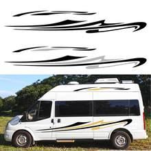 Para mercedes sprinter carro longo lado listras adesivos auto diy estilo de esportes decoração decalque automóveis carro tuning acessórios