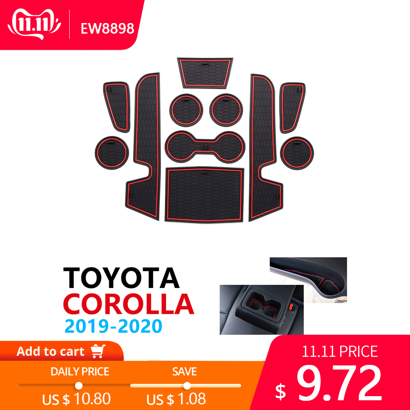 Противоскользящий резиновый коврик для Toyota Corolla E210 210 2019 2020 2021 аксессуары для автомобиля наклейки коврик для телефона-in Наклейки на автомобиль from Автомобили и мотоциклы