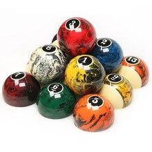 2-1/4 pouces 57.2MM amérique neuf-balle jeu coloré marbre piscine billard jeu de boules