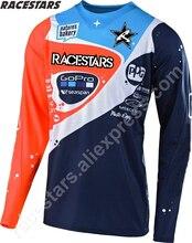 цена на RACESTARS Motocross MTB Off Road motorcycle Men Racing BIke Downhill Jerseys DH Motorcycle Cycling Clothes MX ATV Crssmax Shirt