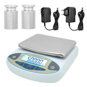 Digital Scale High Electronic Scale Scale Jewelry Scales Laboratory with 2 Weights 2kg 0 01g