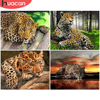 HUACAN DIY Pictures By Numbers Paint By Number Animal Drawing On Canvas Hand Painted Painting Leopard Art Gift Kits Home Decor