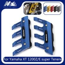 Motocicleta frente fender guarda de proteção lateral paralama sliders inferior garfo protetor para yamaha xt1200z/e super tenere accessorie