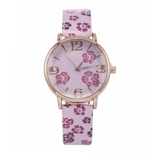 2020 Fashion Casual Floral Clover Pattern wrist watch for women stylish luxury leather strap ladies female watches reloj mujer