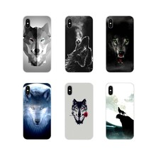 Accessories Shell Case For Samsung Galaxy S3 S4 S5 Mini S6 S7 Edge S8 S9 S10 Lite Plus Note 4 5 8 9 Fashion snow wolf moon clear(China)