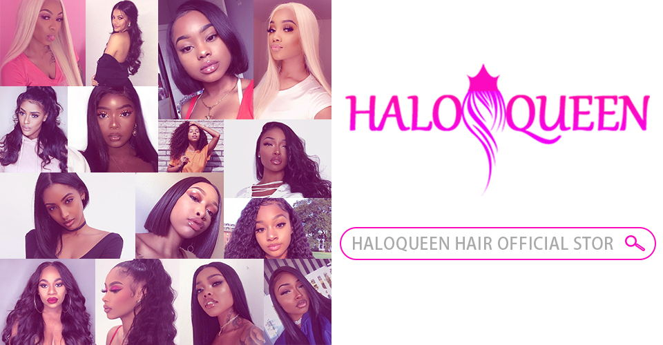 H427e8d8b84684ab88ff5aa265369f5d62 HALOQUEEN Human Hair Wigs Straight Pre Plucked Hairline Baby Hair 8- 28 Inch Remy Human indian Hair Wigs 13X4 Lace Closure Wigs
