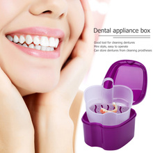 Storage-Box Hanging-Net False-Teeth Teeth-Organizer Tooth-Care Cleaning Dental with Container