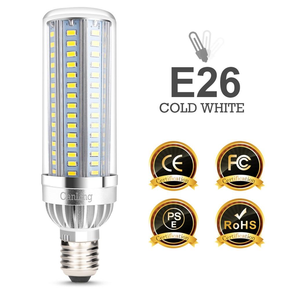 Светодиодная лампа вентилятор кукурузный светильник высокой мощности уличный светильник умный дом лампочка внутреннего освещения E26