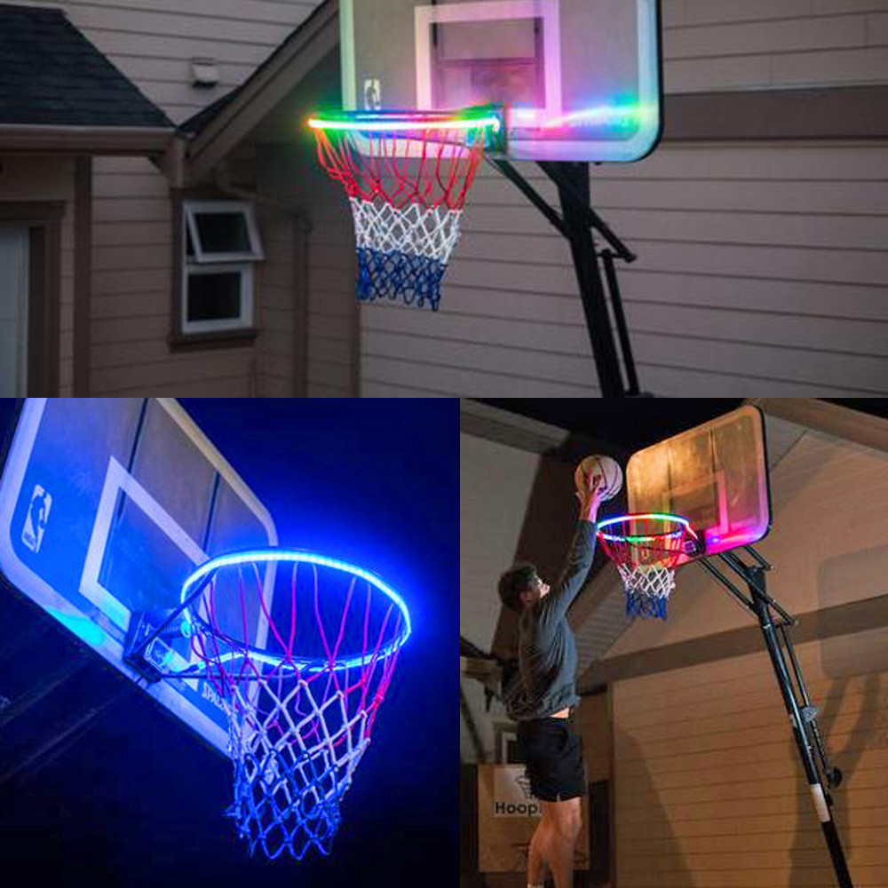 LED Basket Hoop Solar Light Playing At Night Lit Basketball Rim Attachment Helps You Shoot Hoops At Night LED Strip Lamp