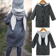 Kids Baby Girls Winter Warm Cotton Hoodies Outwear Cloak Button Jacket