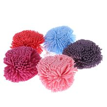 2 шт сетчатая губка для ванны, шарики, буферная пуховка для душа, отшелушивающая моющаяся резинка для волос