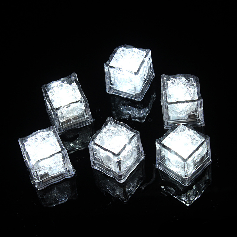 Flash LED Ice Cubes DIY Colorful Party Festival Wedding Xmas Decor LED Drinking Ice Cubes Night Glowing Light J99Store