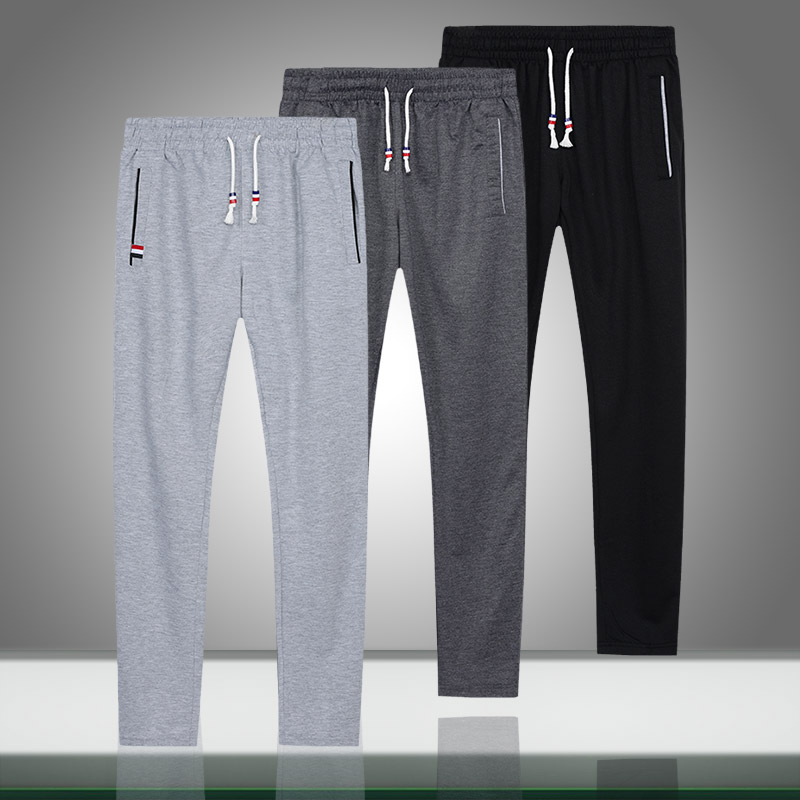 Men Joggers Sweatpants Autumn Casual Mens Solid Loose Trousers Elastic Waist Comfort Gyms Bodybuilding Long Pants Male Clothing