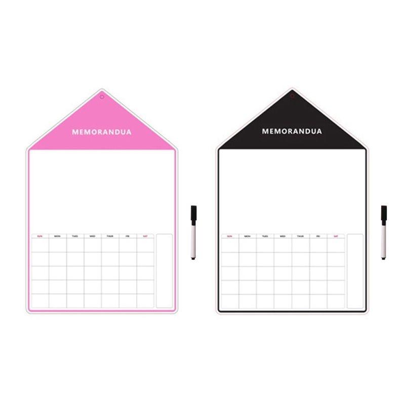 A3 Magnetic Whiteboard Sheet For Kitchen Fridge Multipurpose FridgeWeekly White Board Calendar For Menu Planning Pen L29K