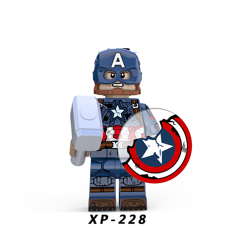 Super Heroes LegoINGlys Avengers 4 Captain America Marvel  Assembly Blocks  Bricks Winter Soldier Action Toys Boys Gifts XP228