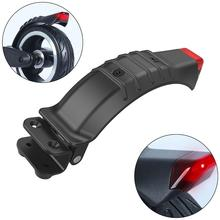 Electric Scooter Rear Fender With Taillights Black Wheel Brake Frame Safety Light