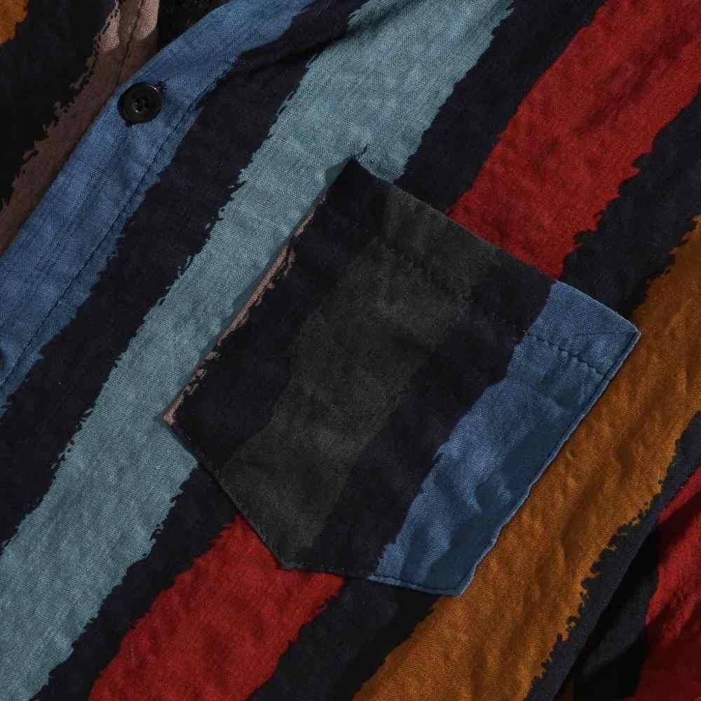 カジュアルストライプ襟シャツ男性綿デザイナーブランドスリムフィットマンシャツチェック長袖白シャツ男夏メンズ服 S64