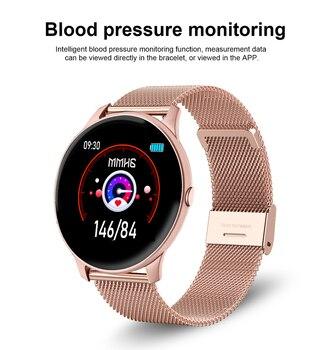 LIGE 2021 Fashion Smart Watch Ladies Heart Rate Blood Pressure Multifunctional Sport Watch Men Woman Waterproof Smartwatch Women 5