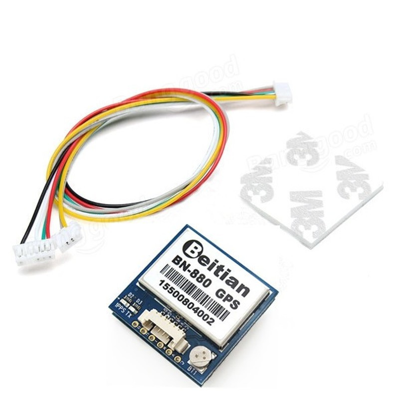 Beitian <font><b>BN</b></font>-<font><b>880</b></font> BN880 Flight Controller <font><b>GPS</b></font> Module Dual Module Compass With Cable for Airplane Multirotor FPV Racing Drone image