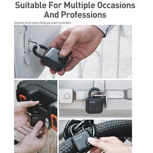 Image 2 - USB עמיד למים נגד גניבת טביעות אצבע מזהה חכם Keyless מנעול בית מזוודות מקרה תיק מנעול סופר ארוך המתנה אלקטרוני מנעול