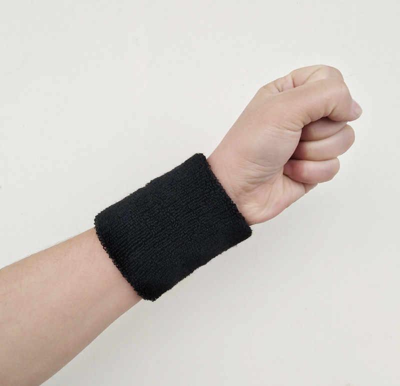 1PCS Gelang Olahraga Pita Penahan Keringat Tangan Band Keringat Pergelangan Tangan Penopang Brace Membungkus Penjaga Untuk Gym Bola Basket Bola Voli Tenis