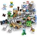 Der Berg Höhle SE Set Bausteine Mit Steve Action-figuren Kompatibel Meine Welt MinecraftINGlys Sets Spielzeug Für Kinder