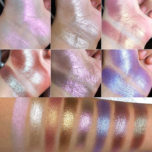UCANBE 8 Holographic Metallic Duochrome Eye Shadow Crystal Glitter Shiny Eyeshadow Pigment Waterproof Liquid Eye Shadow Makeup 1