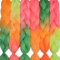 MERISIHAIR 24 pouces Crochet tresses boîte tresses 100 g/pc Ombre Jumbo tresses synthétiques tressage Extensions de cheveux