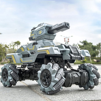 New 2.4G High Speed Drifting RC Tank Shooting Water Ball Armored Assault Vehicle Military Model Electric Tanks For Kids Toys